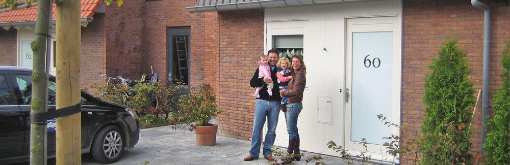 gezin voor huis